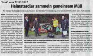 2017-03-22 Heimaterdler sammeln gemeinsam Müll