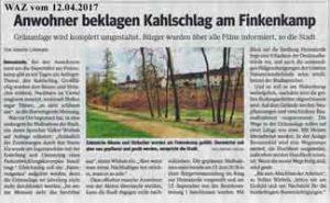 2017-04-12 Anwohner beklagen Kahlschlag am Finkenkamp
