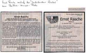 2018-02-10, Sterbeanzeige Ernst Rasche