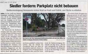 2018-07-21 Siedler fordern Parkplatz nicht bebauen